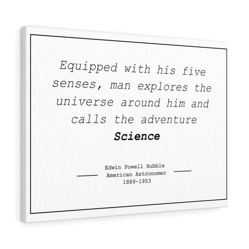 Edwin Hubble quote canvas print