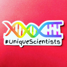 #UniqueScientists Unique Scientists rainbow DNA sticker LGBTQ