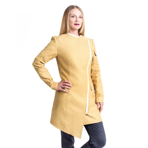 Kevlar fire chemical resistant lab coat with pockets for women