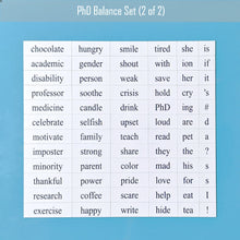 PhD Balance magnetic poetry set