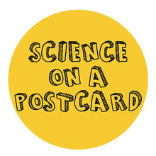 Chemist scientist enamel lapel pin badge science on a postcard