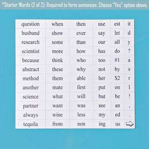 Starter word magnet set 2
