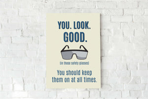 Laboratory Safety Glasses Sign