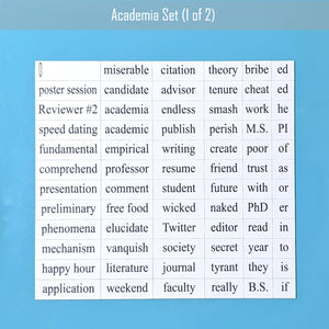 academia word magnet set