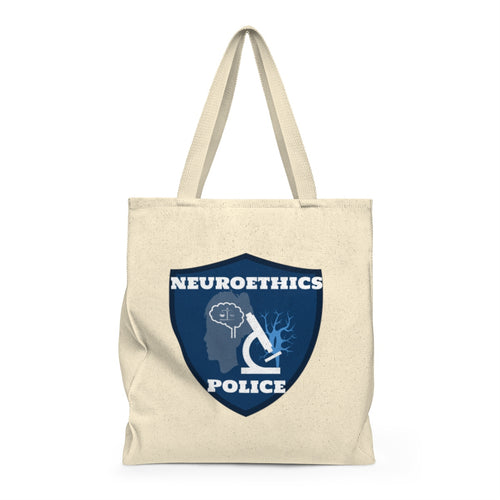 Neuroethics Police Podcast tote bag logo