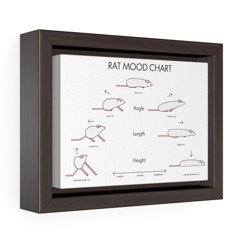 Rat Mood Chart - Framed Canvas Wrap
