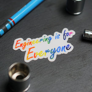engineering is for everyone notebook rainbow sticker