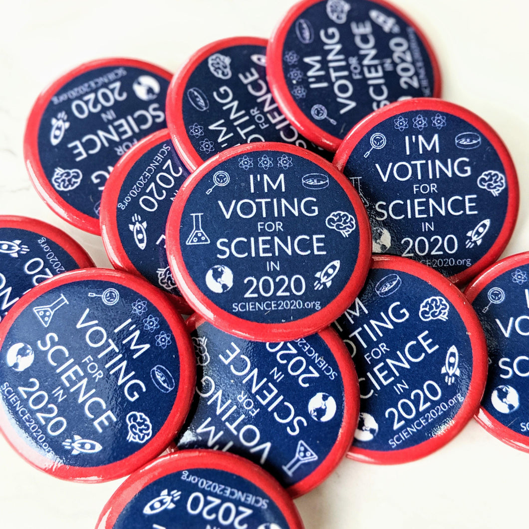 I'm voting for science in 2020 lapel pins