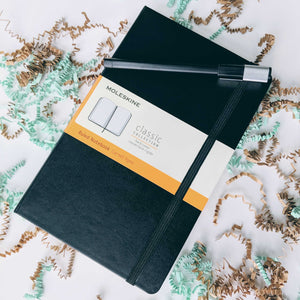 Moleskine notebook for research notes writing