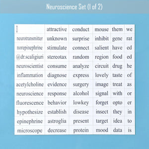 Neuroscience word magnet set by the people's scientist podcast