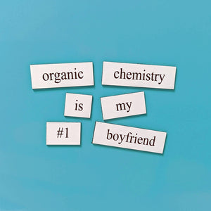 chemistry word magnet set