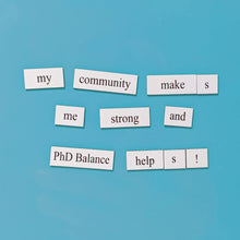 PhD Balance word magnet set