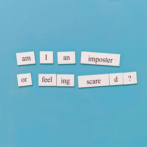 Imposter syndrome PhD word magnets