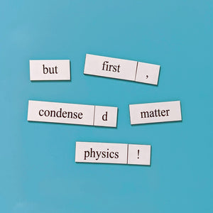 physics word magnet set