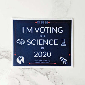 I'm voting for science in 2020 sticker
