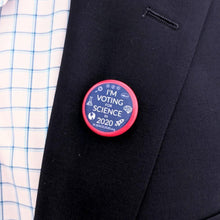 vote for science in 2020 lapel pin