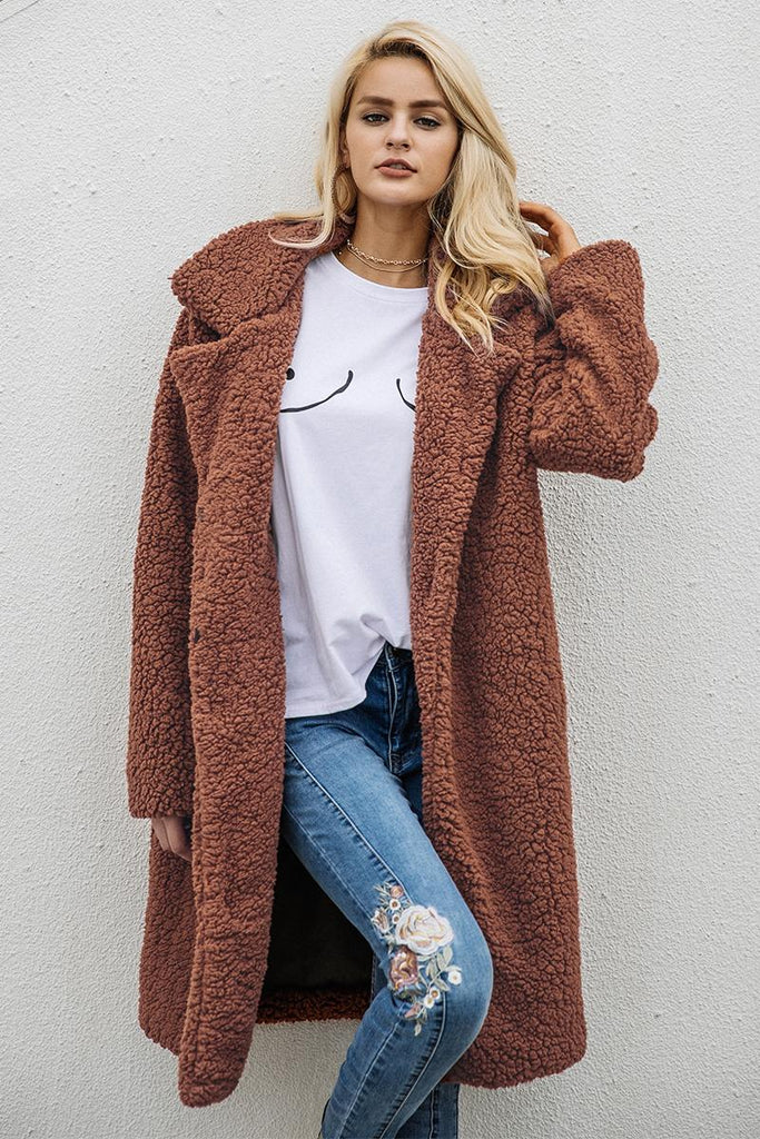 Faux Wool Coat - Peachieee