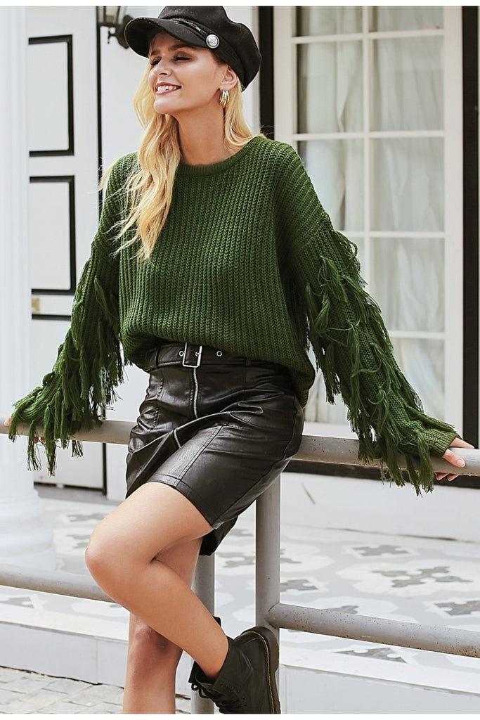Tassel Sweater - Peachieee