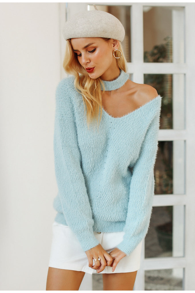 Halter Cold Shoulder Knit - Peachieee