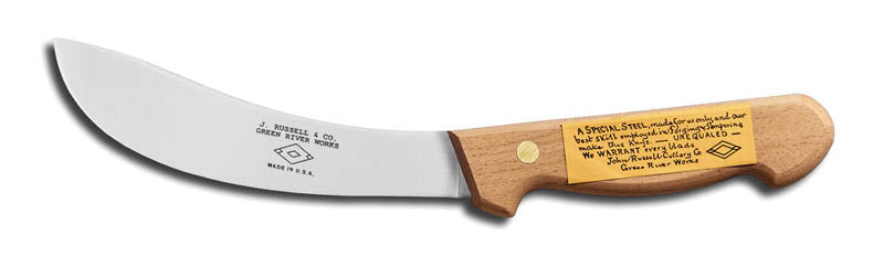 "DEXTER Skinning Knife - 15cm(6"") Beech Handle with Guard"