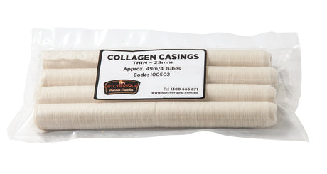 Collagen Casings Thin 23mm Pack(4 Tubes) | Butcherquip