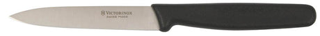 "VICTORINOX Pointed Tip Paring Knife - 10cm (4"") Plain Edge Black Handle"
