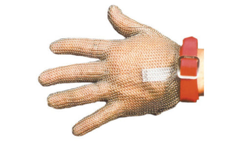 Chain Mesh Glove Wrist Length Large