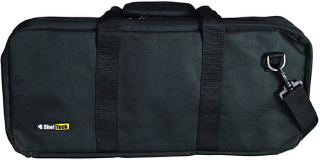 Cheftech 18pce Knife Roll Bag - Black