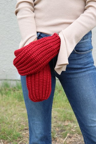 Red Fleece Lined Mittens