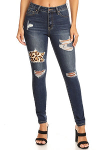 Leopard Distressed Jeans (Hammer Collection)