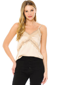 """The Airy"" Lace Trim Camisole"