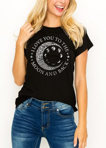 """I Love you to the Moon and Back"" Graphic tee"