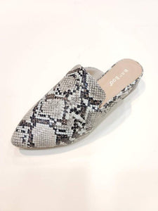 """The Casual Carli"" Snakeskin Mule"