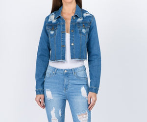 """The Dion"" Distressed Denim Jacket"