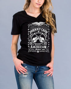 Johnny Cash V-Neck Graphic Tee