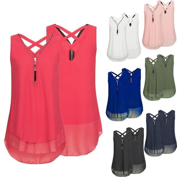 Cheapest and Best Reviews for Plus Size Sleeveless Tassels Chiffon Tank Top  at shopreview.co