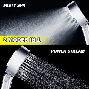 2019 Double Sided Pressurized Shower Head