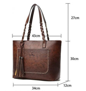 Cheapest and Best Reviews for Classic Tassel Braid Tote Handbag  at shopreview.co