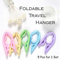 Foldable Portable Travel Hanger (5 Pcs / Set)