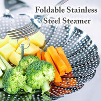 Foldable Stainless Steel Steamer