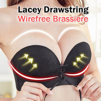 Lacey Drawstring Wirefree Brassiere
