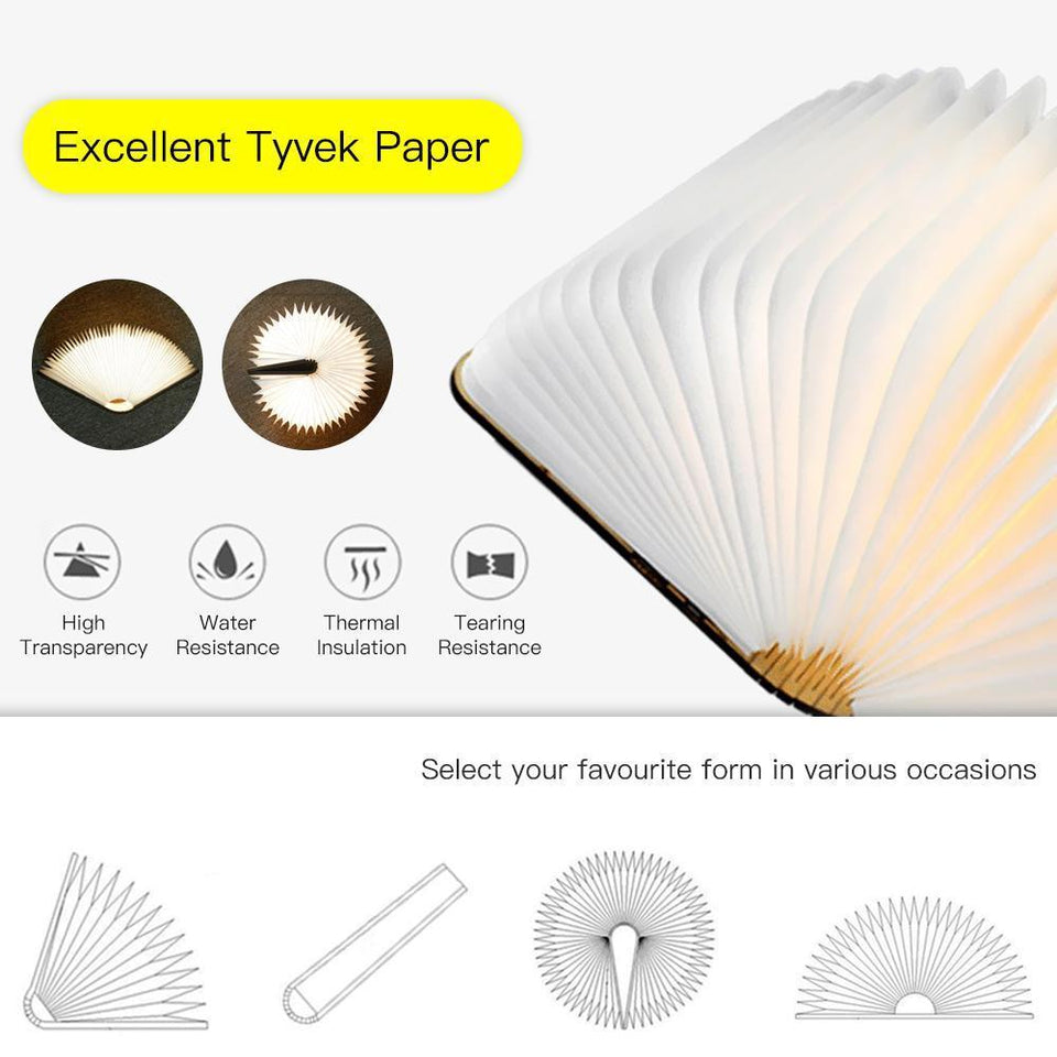 LED Foldable Fan Book