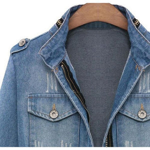 Long Sleeve Denim Coat Jacket