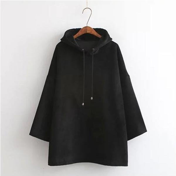 Loose Velvet Hoodies Jacket