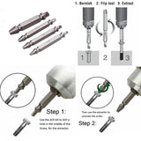 Spin Out Screw Extractor 4Pcs/Set