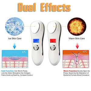 Ultrasonic Temperature Facial Massager