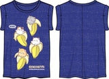 Bananya Shirt Anime Girls Blue T-Shirt