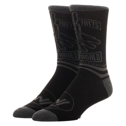 Westworld Bad Guy Black Men's Crew Socks