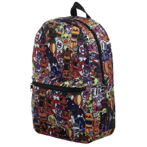 Five Nights at Freddy's Sublimated Print Characters Backpack