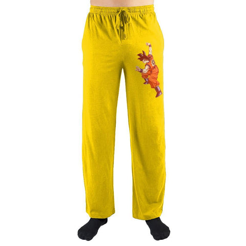 Yellow Dragon Ball Z Sweatpants Dragon ball Z Goku Sleep Pants